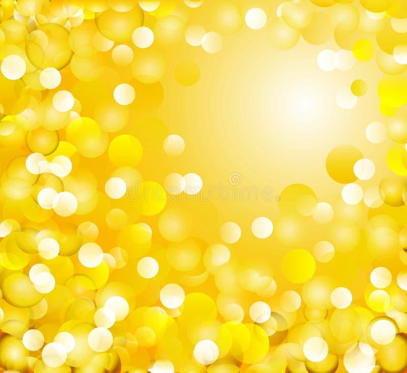 Golden light background stock images