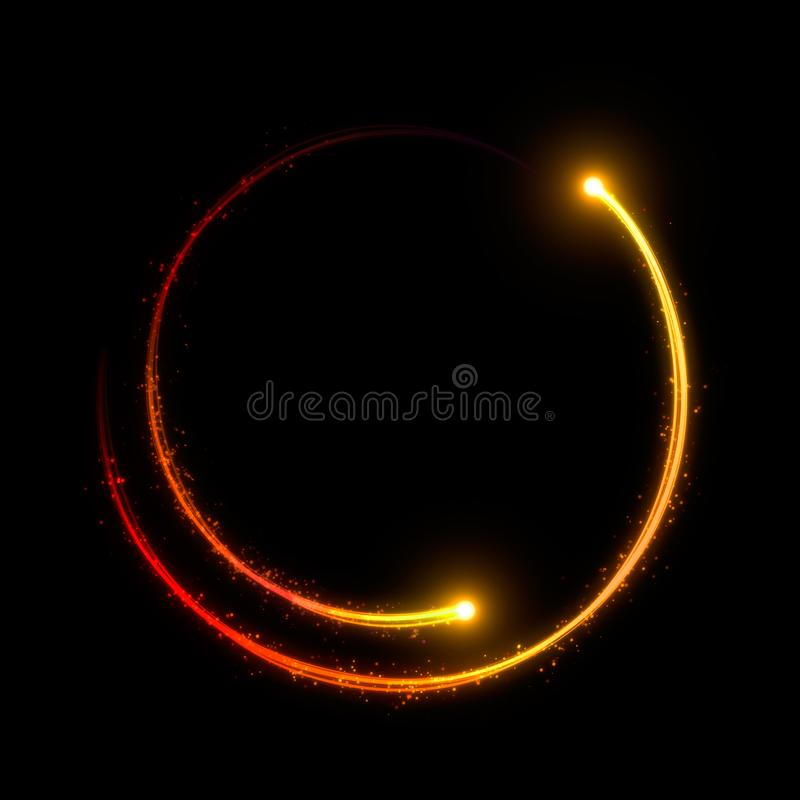 Free Golden Light Streak Forming A Circle Stock Photos - 117688563
