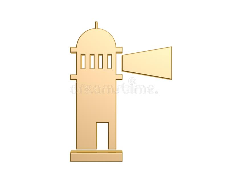 Download Golden lighthouse stock illustration. Image of golden - 34592739