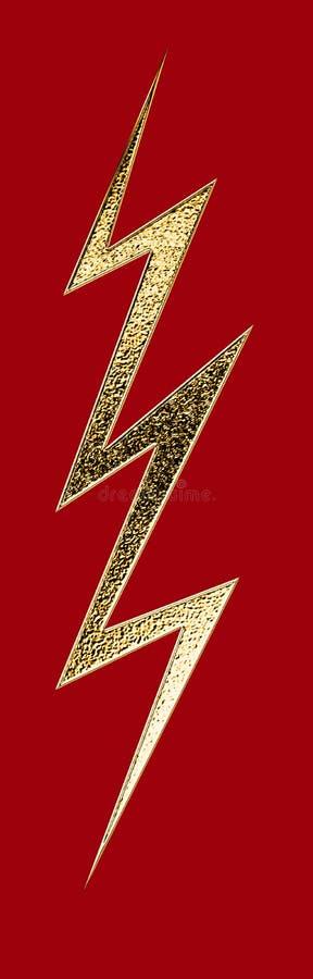 Golden lightning. Golden blank image of lightning for decoration background pictures stock illustration