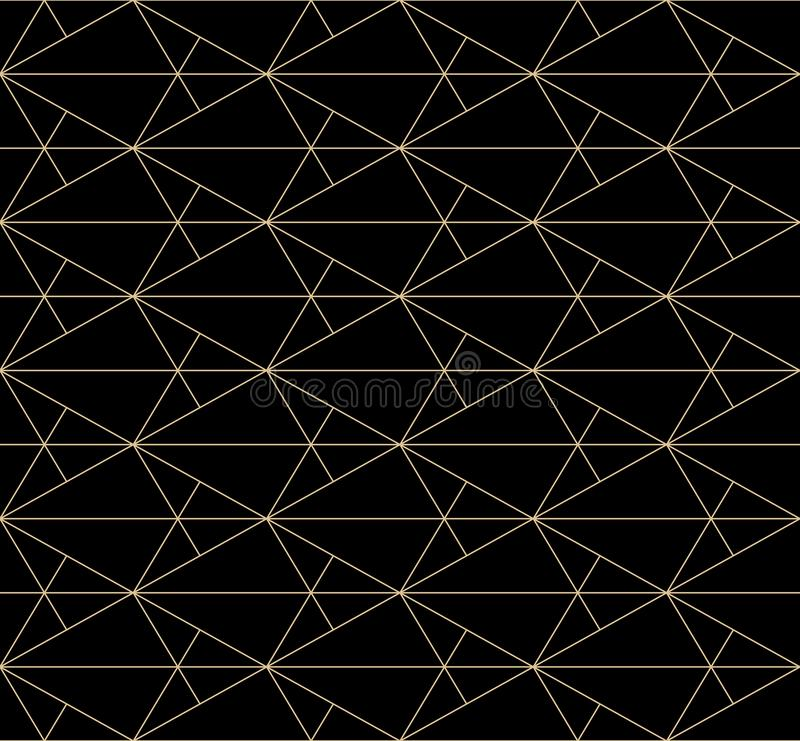 Golden lines pattern. Vector geometric seamless texture with subtle grid, mesh royalty free illustration