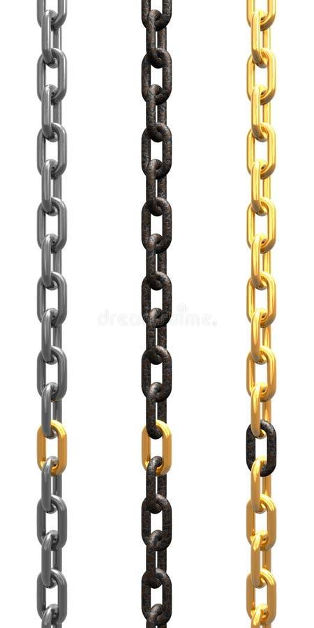 Download Golden link stock illustration. Image of stronger, strong - 18684897