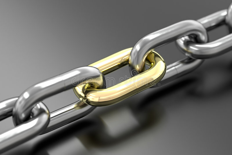 Download Golden Link Royalty Free Stock Image - Image: 7289326