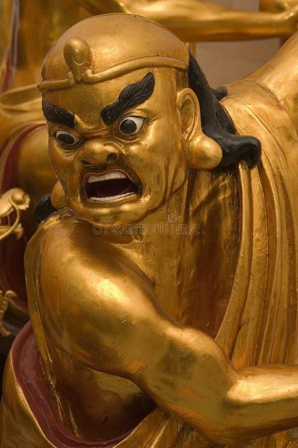 Golden Lohan statue stock photo