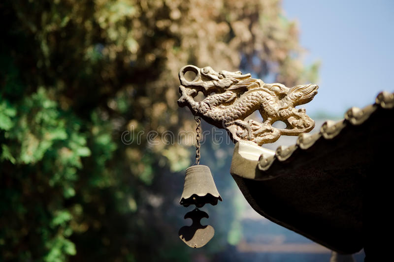 Golden Loong royalty free stock photography