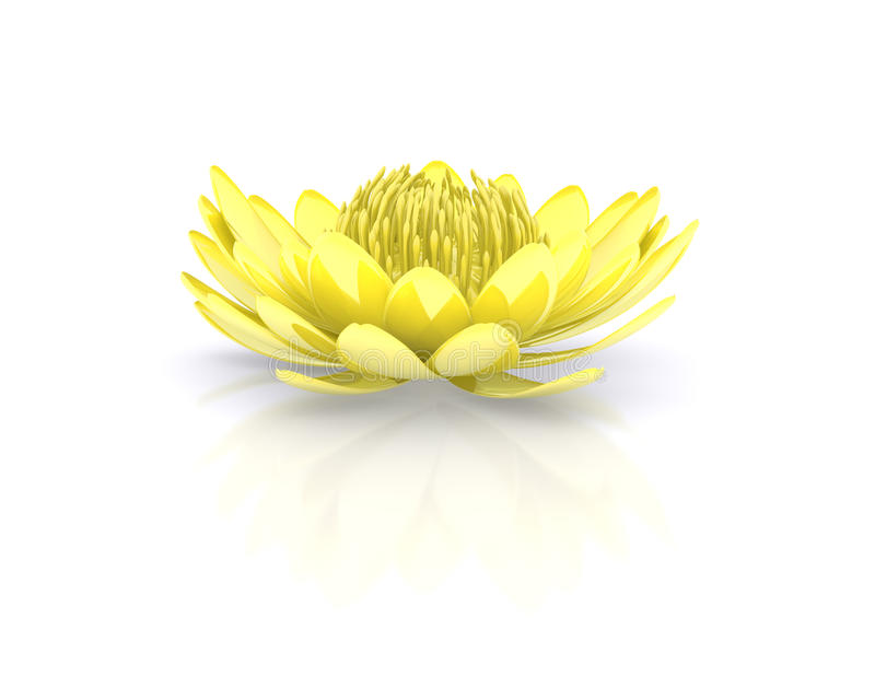 Golden lotus flower water lily royalty free illustration