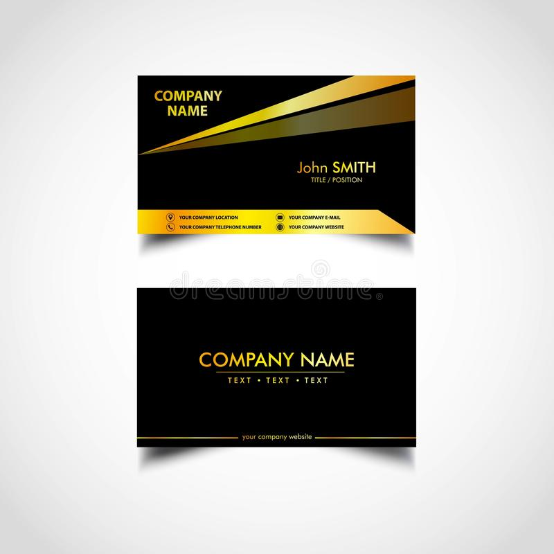 Golden luxury business card templatesvector illustration stock download golden luxury business card templatesvector illustration stock vector illustration of cool accmission Images
