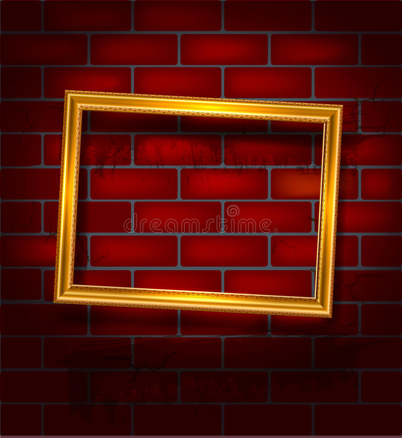 Download Golden luxury empty frame stock vector. Illustration of golden - 34505270