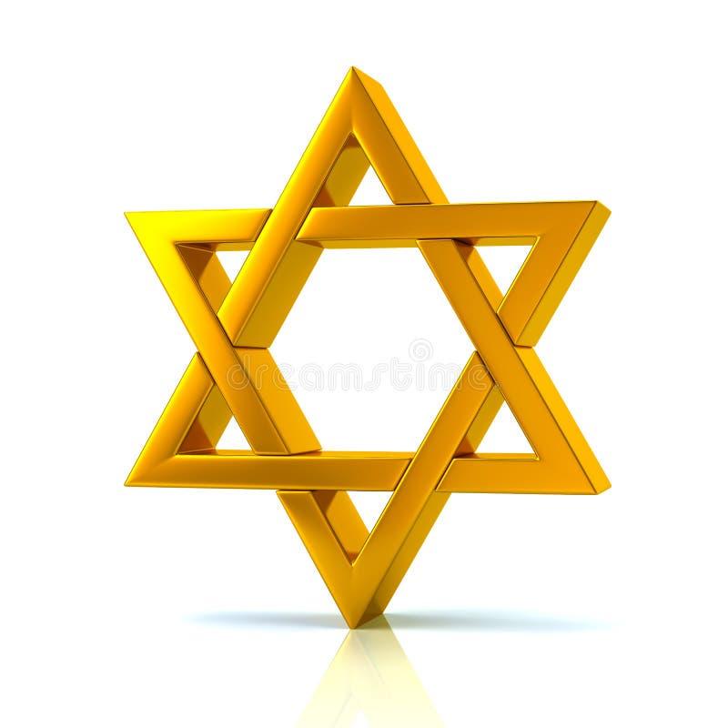 Golden Magen David 3d illustratie vector illustratie