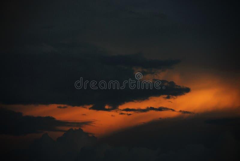 Golden magma sky royalty free stock photo