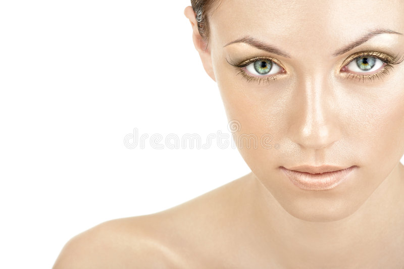Golden make-up stock photography