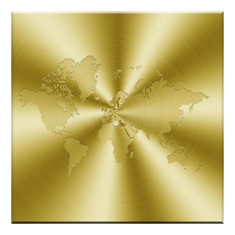 Free Golden Map Royalty Free Stock Photos - 30255598
