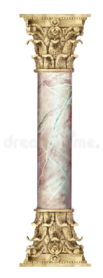 Free Golden Marble Column Royalty Free Stock Photos - 503728