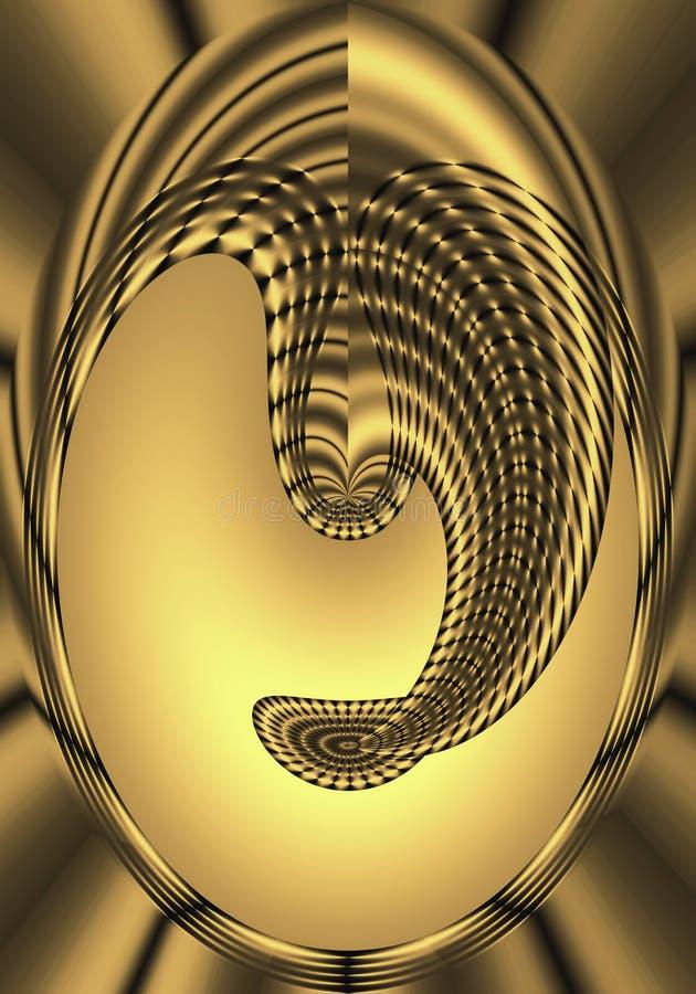 Golden Mask vector illustration