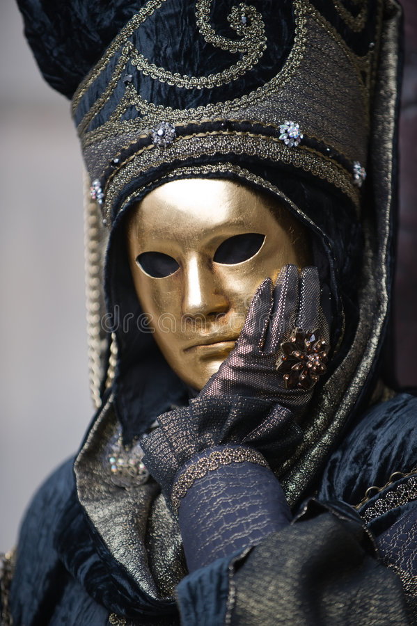 Golden mask royalty free stock images