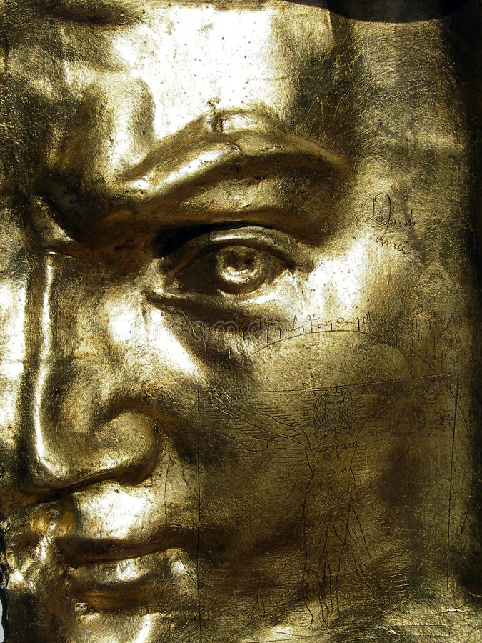 GOLDEN MASK OF DAVID royalty free stock image