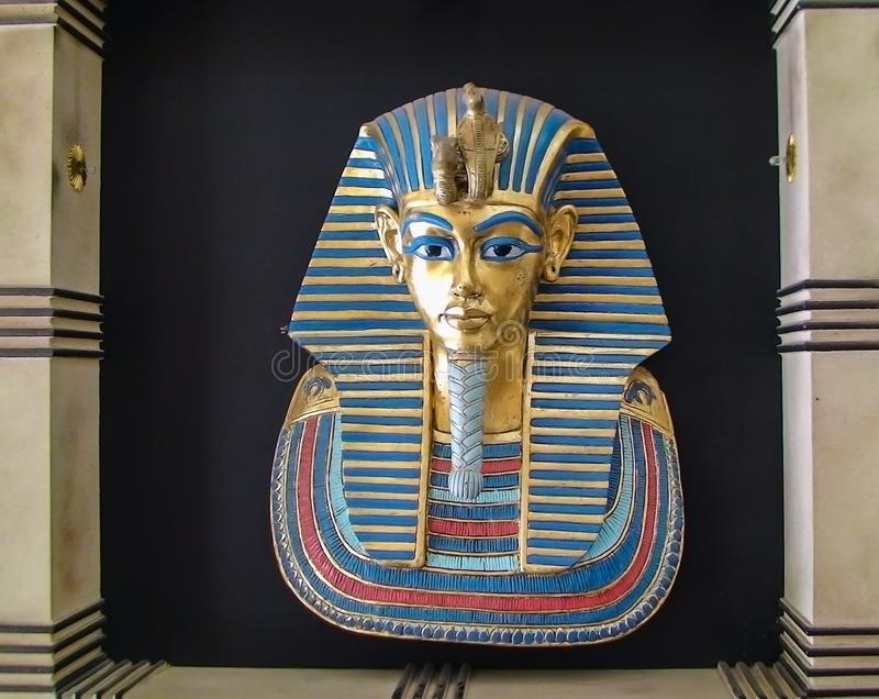 The golden mask of Tutankhamun stock photos