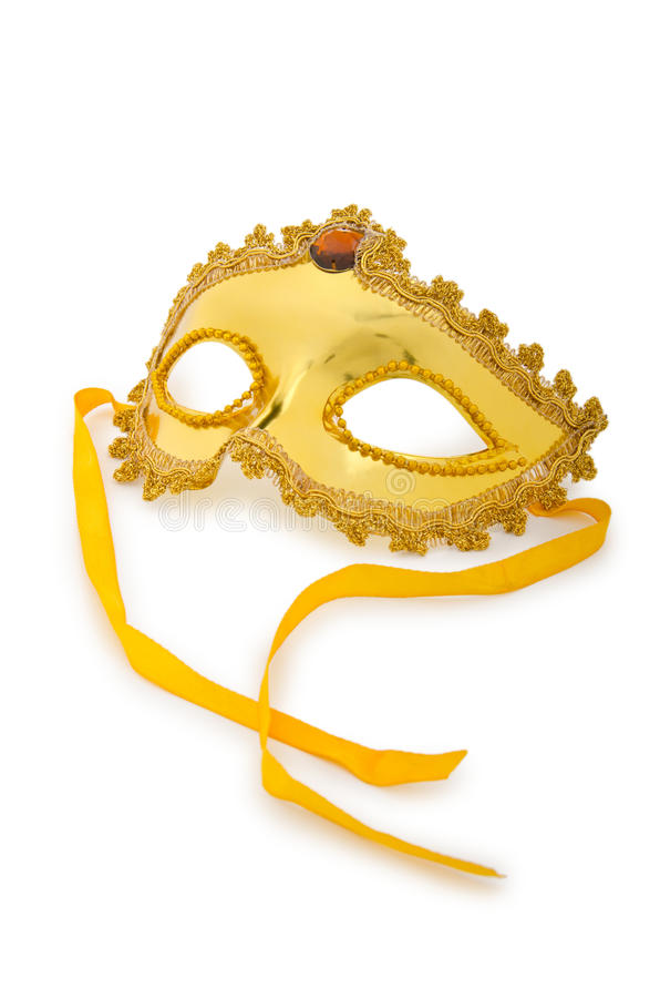 Download Golden mask  on  white stock photo. Image of mysterious - 24865806