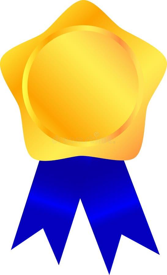 Download Golden medal stock vector. Image of best, chrome, medal - 33299575