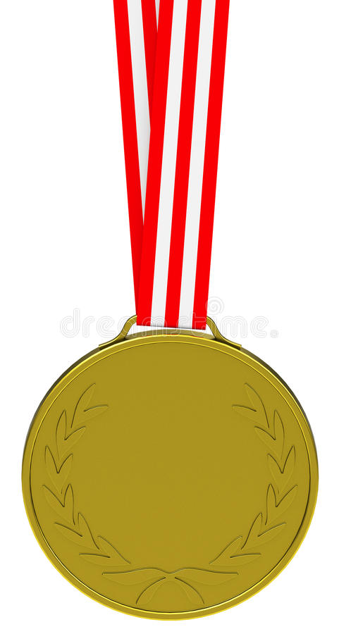 Download The golden medal stock illustration. Illustration of trophy - 39879850