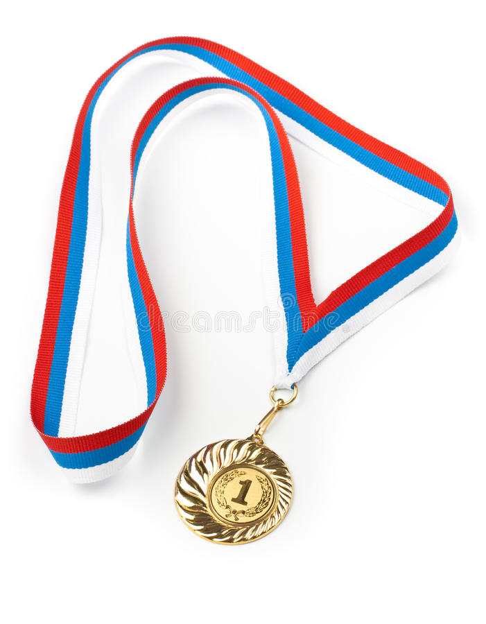 Download Golden medal isolated stock photo. Image of golden, championship - 14104890