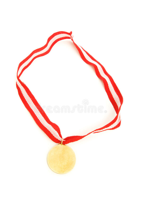 Download Golden Medal Isolated On The White Stock Image - Image: 13334961