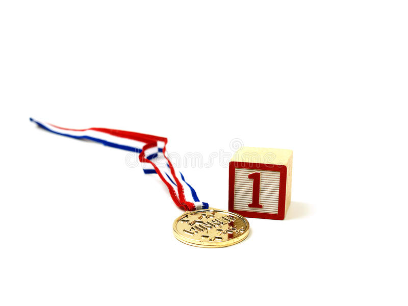 Download A Golden Medal For Number One! Stock Image - Image: 11944401