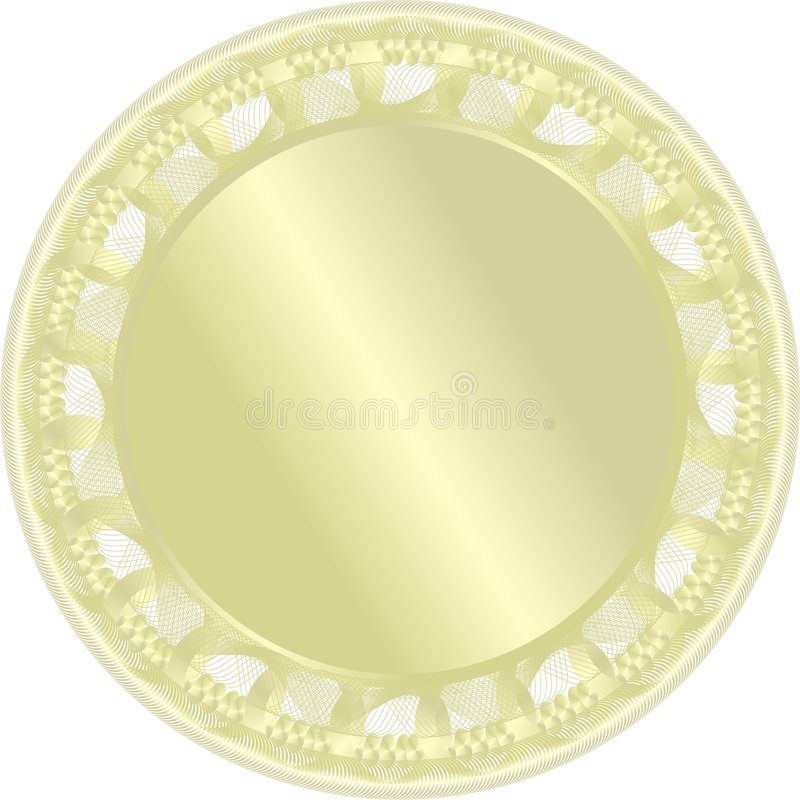 Golden medal. Vector stock illustration