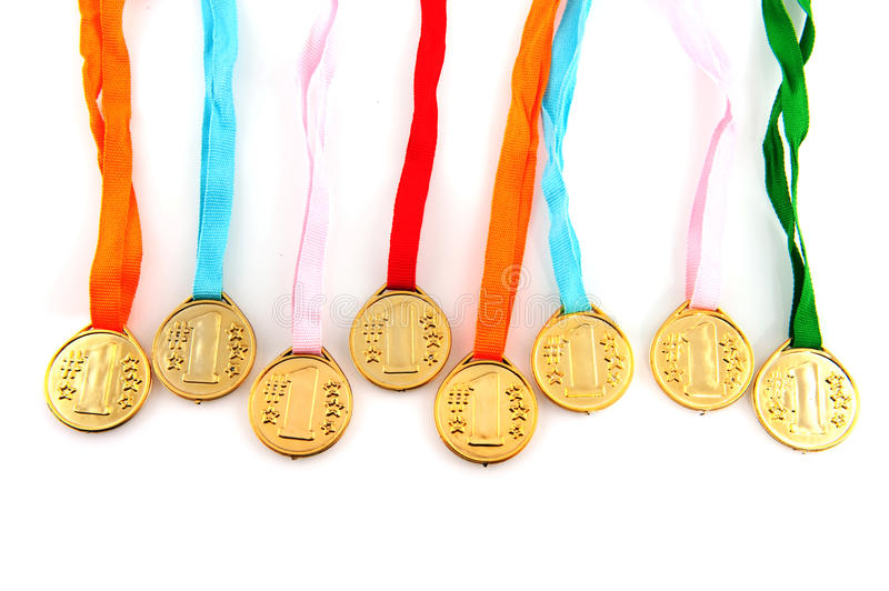 Download Golden medals stock image. Image of winner, colors, olympique - 12922085