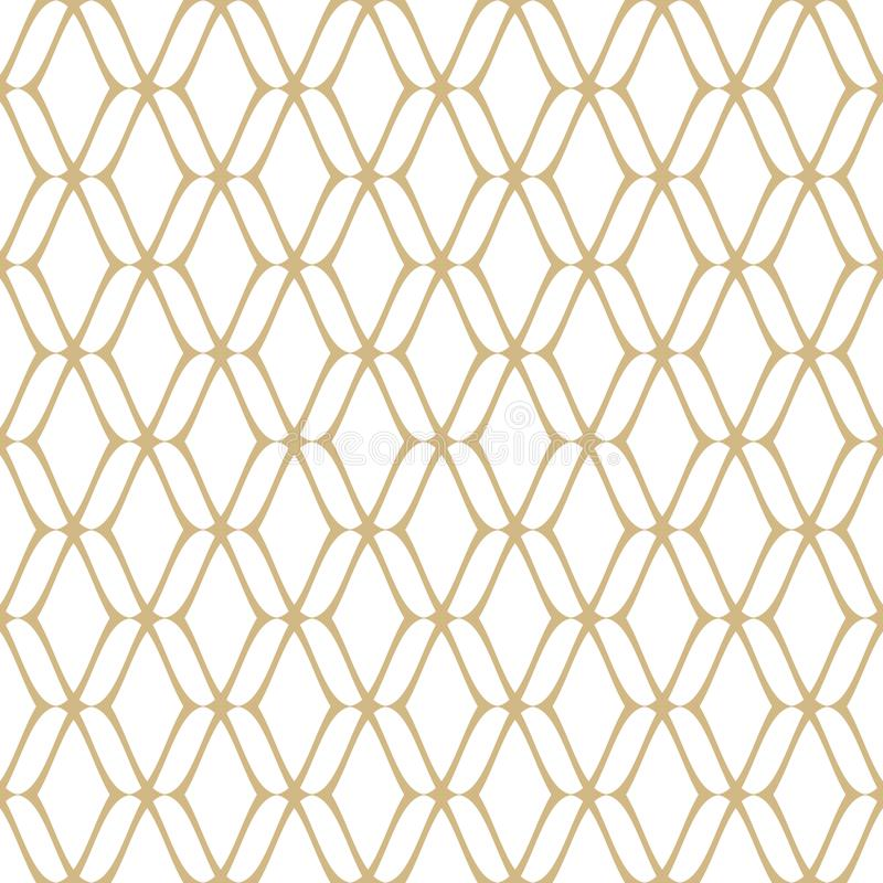 Gold and white retro luxury background. Repeat design element royalty free illustration