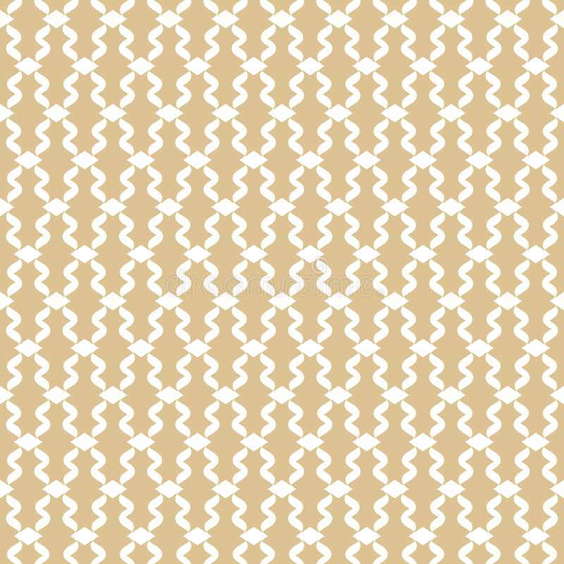 Golden mesh seamless pattern. Subtle vector abstract geometric lace ornament vector illustration