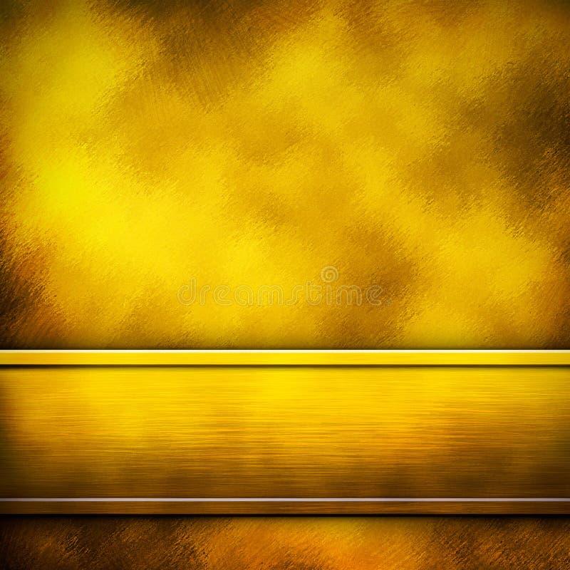 Golden metal background. Grunge sheet metal plate background texture stock image