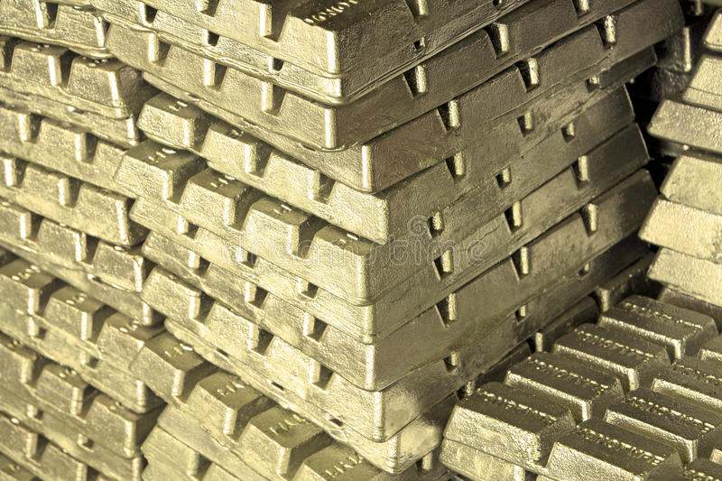 Golden metal bars royalty free stock photo