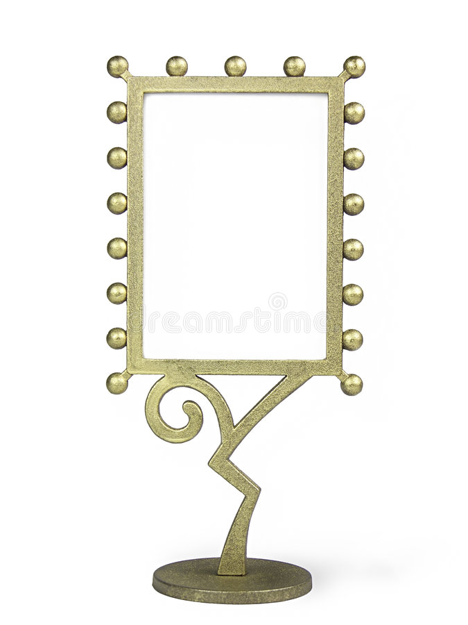 Download Golden metal frame stock photo. Image of objects, base - 314348