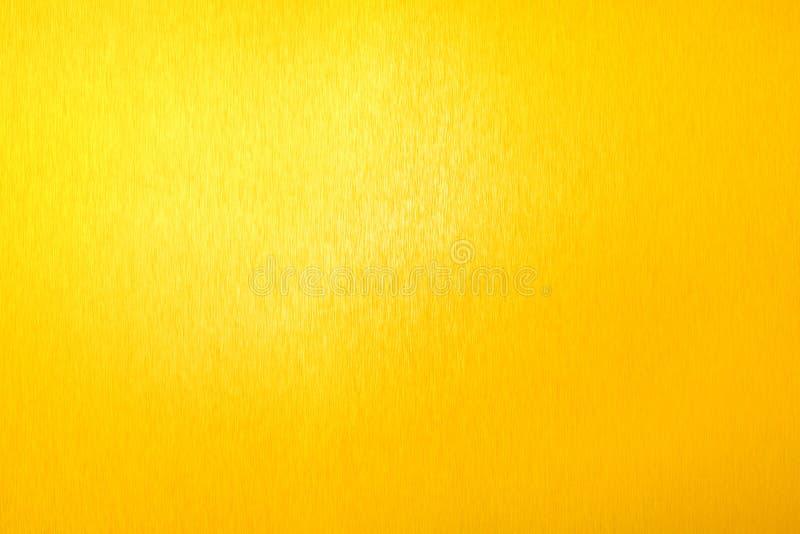 Golden metal shiny empty surface, yellow shining metallic background, gold sheet backdrop close up, decorative sparkling texture. Golden metal shiny empty royalty free stock image