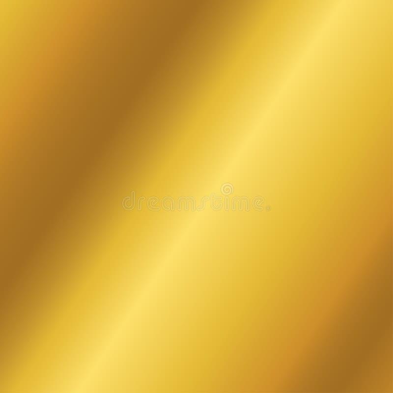 Golden metallic background gradient mesh vector. stock illustration