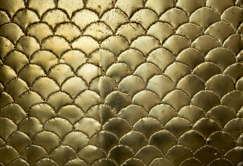 Golden metallic wavy surface royalty free stock images
