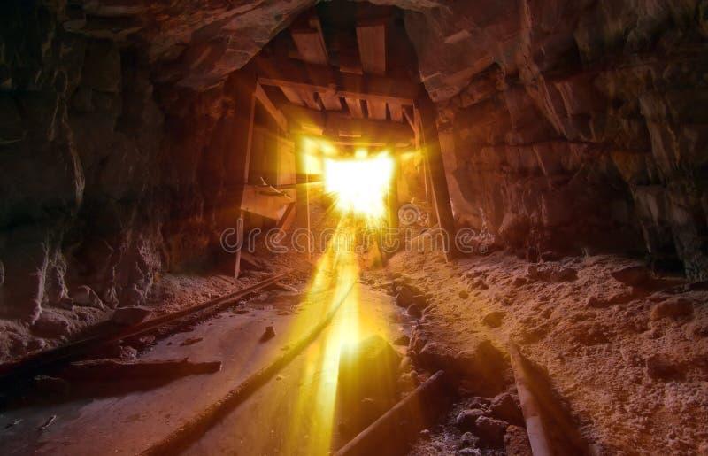Download Golden Mine Light stock photo. Image of steam, debris - 19738584