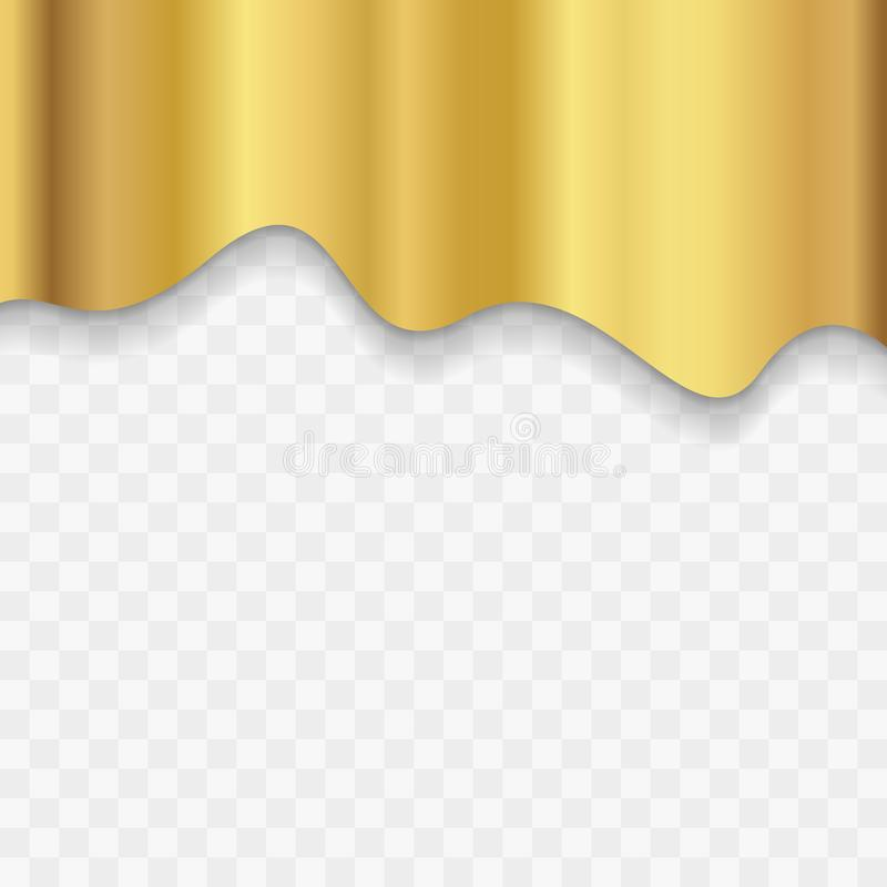 Golden Modern Fluid Background Composition with Dark Gradients and Gold Metal royalty free illustration