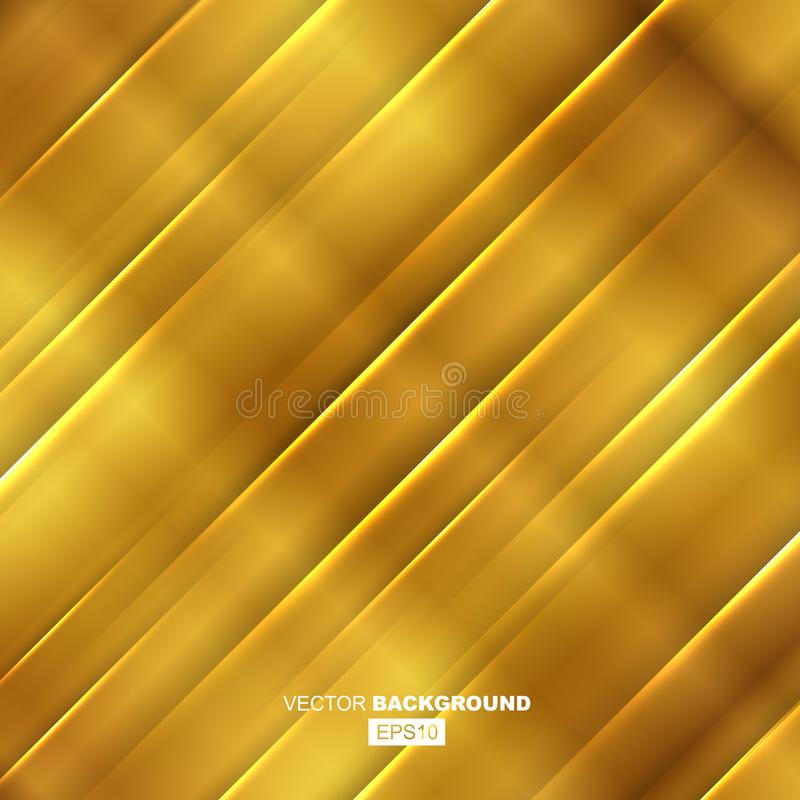 Golden Modern Fluid Background Composition royalty free illustration