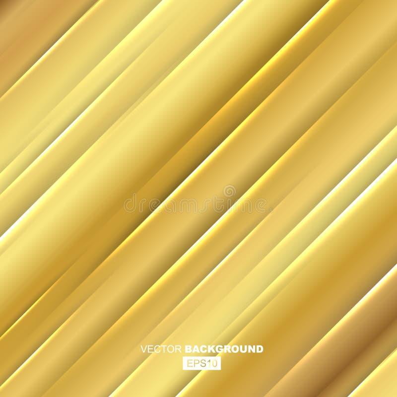 Golden Modern Fluid Background Composition vector illustration