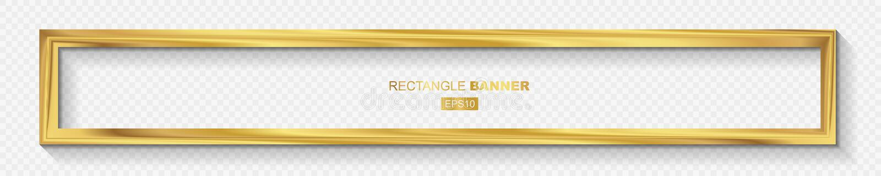Golden Modern Wide Frame Border Design stock illustration