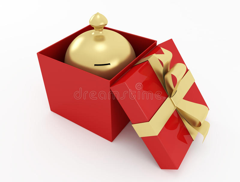 Download Golden moneybox stock illustration. Illustration of surprise - 14687704