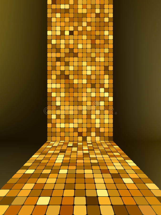 Download Golden Mosaic, Gold Background. EPS 8 Stock Vector - Image: 20253997
