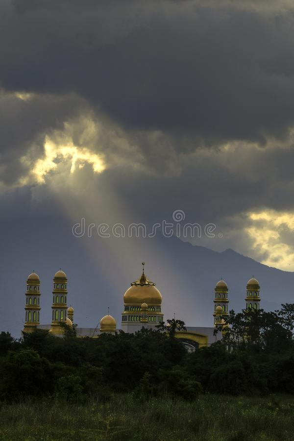 mosque and mountain stock image