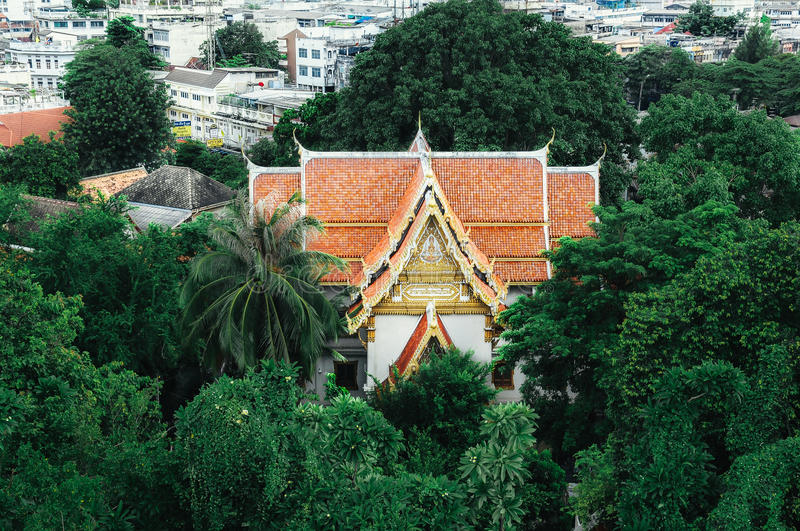 Golden Mount Buddhist Temple royalty free stock images