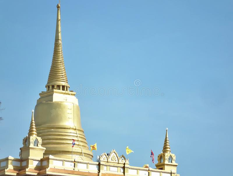 Golden Mountain phu khao Tong Bangkok Thailand The pagoda on the hill in Wat Saket temple royalty free stock photography