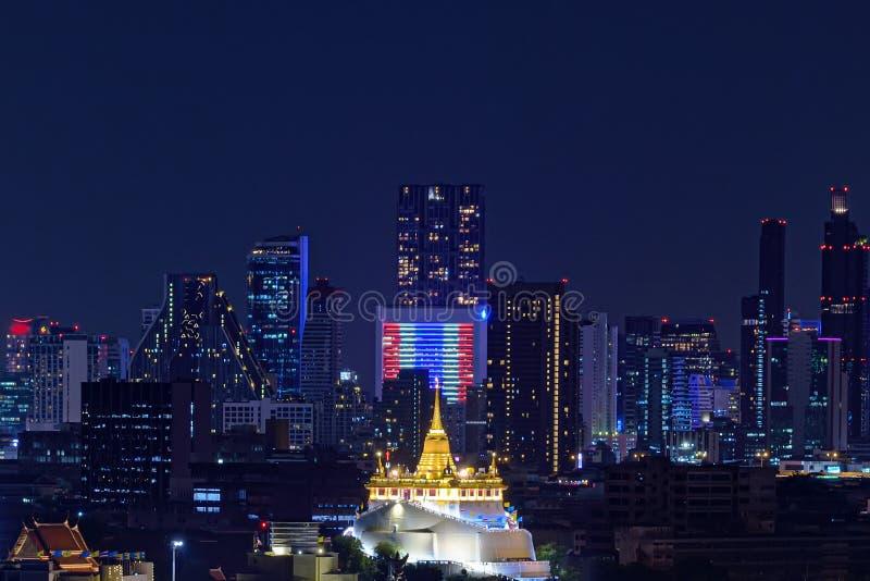 The golden mountain  is a religious structure in Bangkok. The golden mountain is a religious structure stock photos