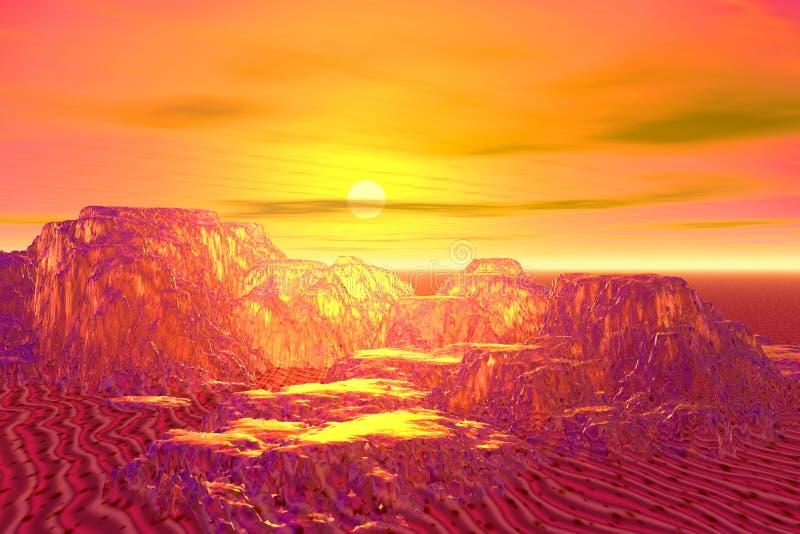 Golden mountains royalty free stock photo