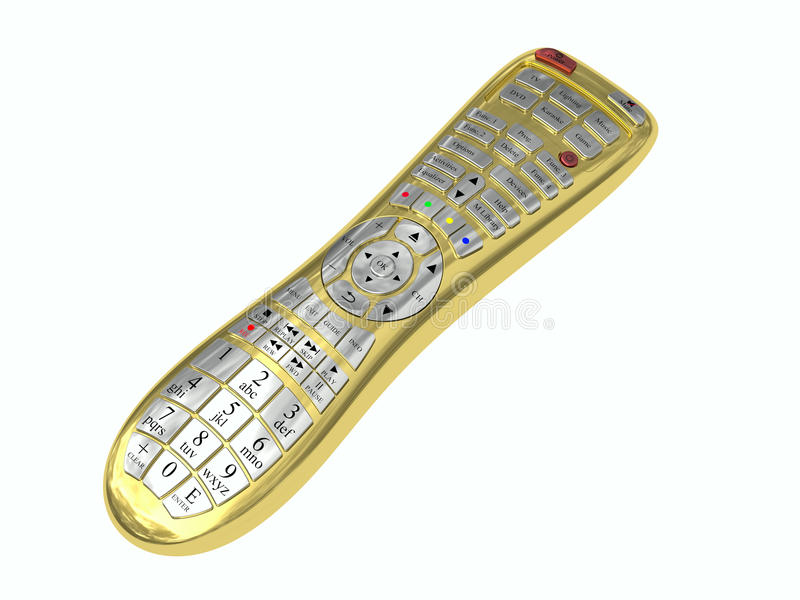 Download Golden Multi-function Remote Control Stock Illustration - Image: 28616532